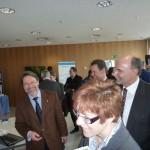 J. Berendt, Ministerin Annegret Kramp-Karrenbauer und Volker Giersch, Hauptgeschäftsführer der IHK Saarland