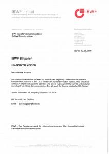 IBWF-Blitzbrief